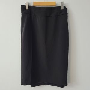 NWT Tanjay Missy Black A Line Midi Skirt Size 18